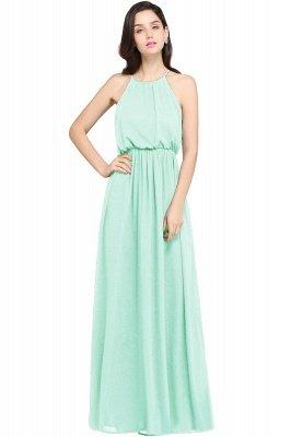 CHEYENNE | A-line Floor-length Chiffon Navy Blue Simple Prom Dress_7