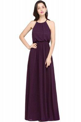 CHEYENNE | A-line Floor-length Chiffon Navy Blue Simple Prom Dress_2