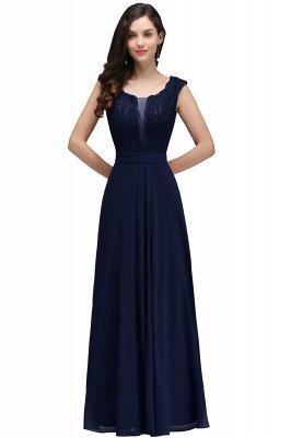 CORINNE | A-line Floor-length Lace Burgundy Elegant Prom Dress_4
