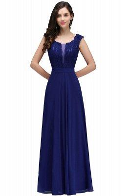 CORINNE | A-line Floor-length Lace Burgundy Elegant Prom Dress_3