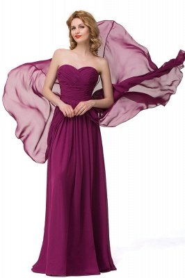 Sexy A-linie Bodenlangen Chiffon Brautjungfernkleider   Elegante Brautjungfernkleider Günstig_4