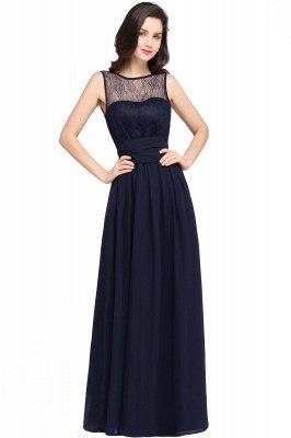 Jewel Lace Keyhole Mantel bodenlangen schwarzen Chiffon Sexy Abendkleid_5