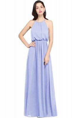 CHEYENNE | A-line Floor-length Chiffon Navy Blue Simple Prom Dress_3