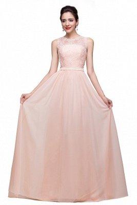 Elegante Rosa Chiffon Brautjungfernkleider Mit Applikation | Schönes Brautjungfer Kleid Lang_1
