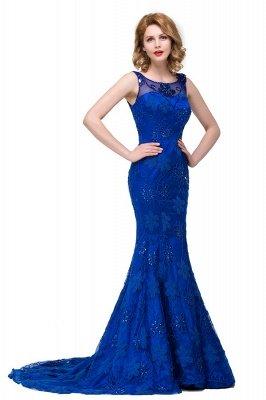 GWEN | Mermaid Bateau Sweep-length Form Dresses With Applique Crystal_5