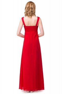 HANNAH   A-line V-neck Knee-length Ruffle Red Bridesmaid Dresses With Crystal_3