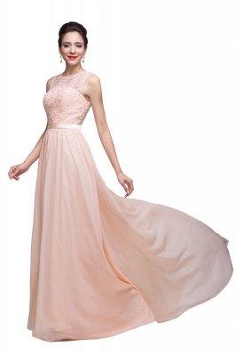 HADLEIGH   A-line Crew Floor-length Sash Chiffon Bridesmaid Dresses With Applique_4