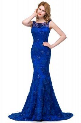 GWEN | Mermaid Bateau Sweep-length Form Dresses With Applique Crystal_4