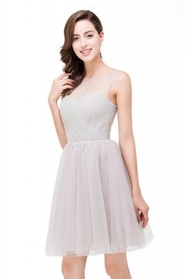 Silver Bridesmaid Dresses With Ruffle