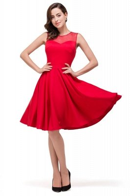 Crew Knee-length Red Bridesmaid Dresses