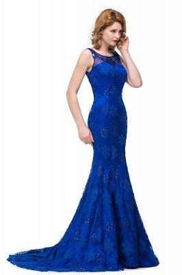 GWEN | Mermaid Bateau Sweep-length Form Dresses With Applique Crystal_6