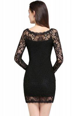 Robes de bal sexy en dentelle noire manches longues sirène_11