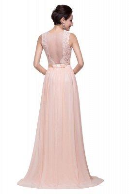 Elegante Rosa Chiffon Brautjungfernkleider Mit Applikation | Schönes Brautjungfer Kleid Lang_3