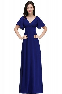 COLETTE | A-line Floor-length Chiffon Burgundy Prom Dress with Soft Pleats_3