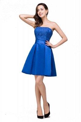 Blue Bridesmaid Dresses With Applique
