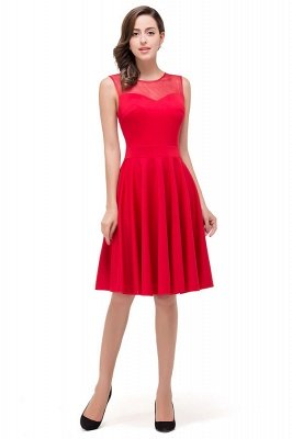 Knee-length Red Bridesmaid Dresses
