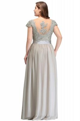 ADA   A-line V Neck Chiffon Bridesmaid Dress with Appliques_10