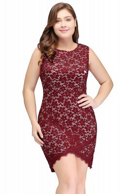 JANIYAH | Meerjungfrau Scoop Short Lace Sleeveless Plus Size Homecoming Kleider_1