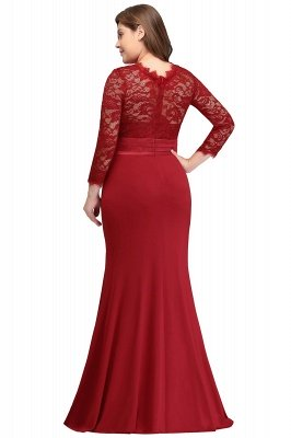Lace plus size bridesmaid dresses with sleeves