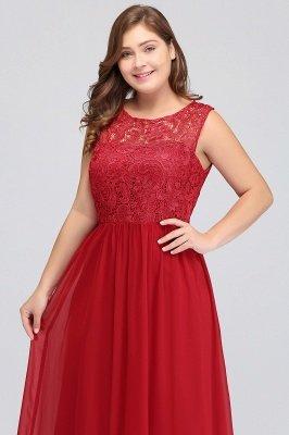 ELYSE | A-line Sleeveless Crew Floor-length Lace Top Chiffon Prom Dresses_15
