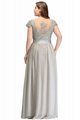 ADA | A-line V Neck Chiffon Bridesmaid Dress with Appliques_11