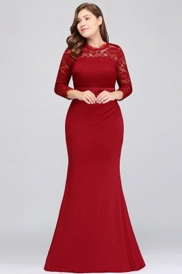 2018 cheap plus size bridesmaid dresses with sleeves