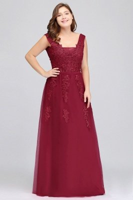 ADDYSON | A-line Floor-length Tulle Bridesmaid Dress with Appliques_14