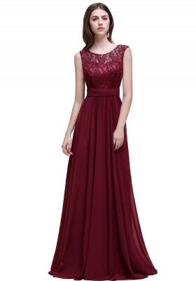 AUDRINA | A-ligne Scoop en mousseline de soie robe de bal avec dentelle_10