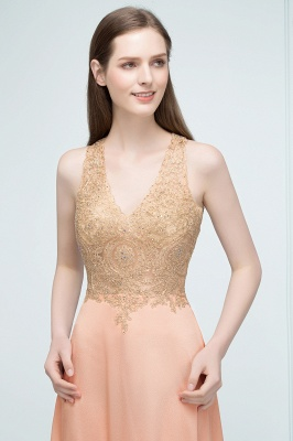 JULIETA | A-line Floor Length V-neck Sleeveless Appliques Chiffon Prom Dresses_8