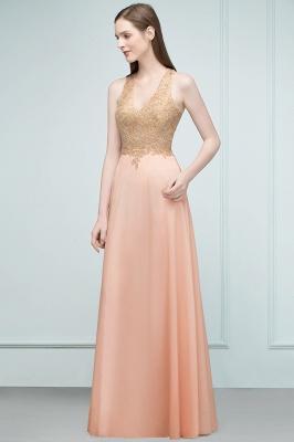 JULIETA | A-line Floor Length V-neck Sleeveless Appliques Chiffon Prom Dresses_5