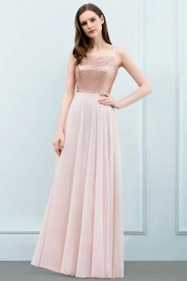 JORDYN | A-line Floor Length Spaghetti Sequined Top Chiffon Prom Dresses_1