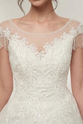 Wunderschöne Brautkleider Schlicht Online Kaufen | Elegantes Brautkleid Mit Spitze Und Tüll_3