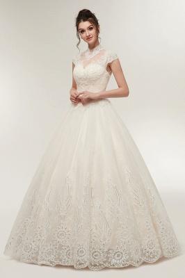 Elegantes Brautkleid Schlicht Modern Online Kaufen | Hochzeitskleider Weiss MIt Tüll Und Spitze_4