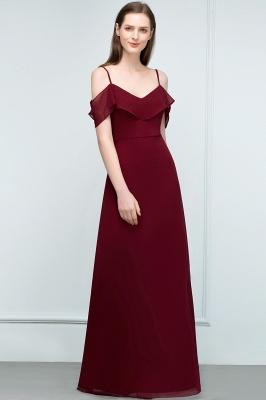 JULIANA | A-line Spaghetti Off-shoulder V-neck Long Chiffon Prom Dresses_14