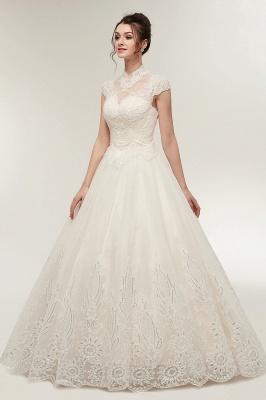 Elegantes Brautkleid Schlicht Modern Online Kaufen | Hochzeitskleider Weiss MIt Tüll Und Spitze_5