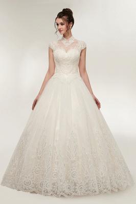 Elegantes Brautkleid Schlicht Modern Online Kaufen | Hochzeitskleider Weiss MIt Tüll Und Spitze_3