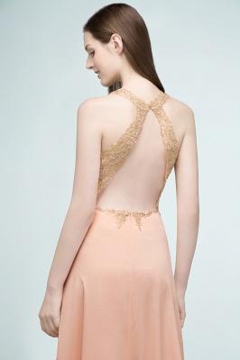 JULIETA | A-Linie bodenlangen V-Ausschnitt ärmellose Applikationen Chiffon Prom Kleider_9