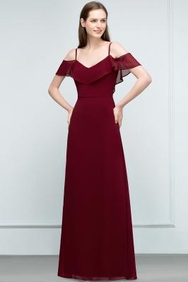 JULIANA | A-line Spaghetti Off-shoulder V-neck Long Chiffon Prom Dresses_11