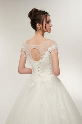 Wunderschöne Brautkleider Schlicht Online Kaufen | Elegantes Brautkleid Mit Spitze Und Tüll_9