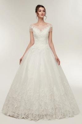 Wunderschöne Brautkleider Schlicht Online Kaufen | Elegantes Brautkleid Mit Spitze Und Tüll_5