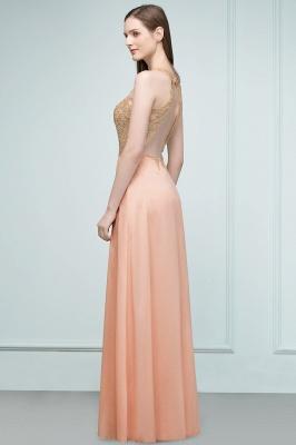 JULIETA | A-line Floor Length V-neck Sleeveless Appliques Chiffon Prom Dresses_7