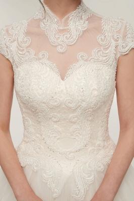 Elegantes Brautkleid Schlicht Modern Online Kaufen | Hochzeitskleider Weiss MIt Tüll Und Spitze_10