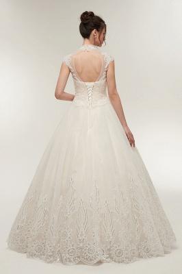 Elegantes Brautkleid Schlicht Modern Online Kaufen | Hochzeitskleider Weiss MIt Tüll Und Spitze_2