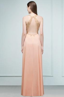 JULIETA | A-Linie bodenlangen V-Ausschnitt ärmellose Applikationen Chiffon Prom Kleider_4