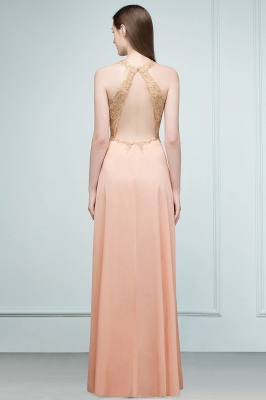 JULIETA | A-line Floor Length V-neck Sleeveless Appliques Chiffon Prom Dresses_4