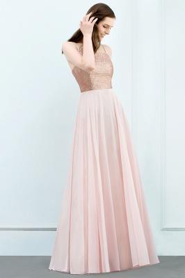 JORDYN | A-line Floor Length Spaghetti Sequined Top Chiffon Prom Dresses_5