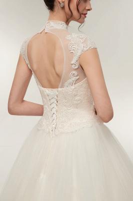 Elegantes Brautkleid Schlicht Modern Online Kaufen | Hochzeitskleider Weiss MIt Tüll Und Spitze_9