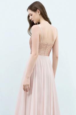 JORDYN | A-line Floor Length Spaghetti Sequined Top Chiffon Prom Dresses_6