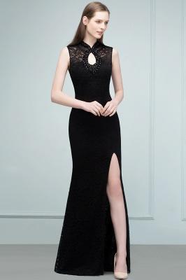 VERA | Mermaid Sleeveless Keyhole Neckline Floor Length Lace Prom Dresses with Crystals_8