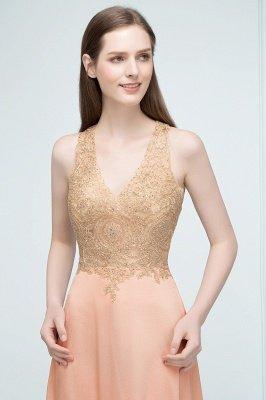 JULIETA | Une ligne-parole longueur v-cou sans manches appliques en mousseline de soie robes de bal_8